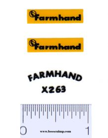 Decal 1/16 Farmhand Set - Yellow, Black