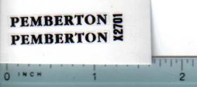 Decal 1/16 Pemberton