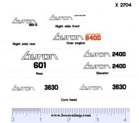 Decal 1/20 Byron 8400 Sweet Corn Picker Complete Set