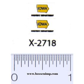 Decal State of Iowa DOT Small on clear