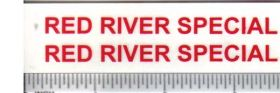 Decal 1/16 Red River Special - Red Set