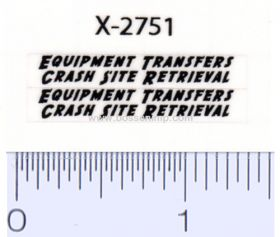 Decal 1/64 Equipment Transfers black