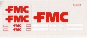 Decal 1/32 FMC Pea Harvester PSC-156