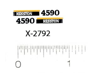 Decal 64 Hesston Baler 4590 early