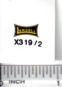 Decal 1/16 Landoll - Yellow & Black
