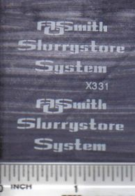 Decal 1/64 AOSmith Slurrystore System