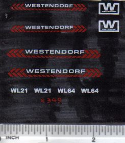 Decal 1/16 Westendorf WL21, WL64 - Orange, White