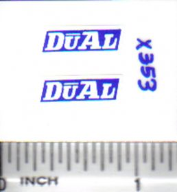 Decal 1/16 Dual - White, Blue