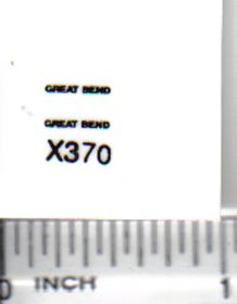 Decal 1/64 Great Bend - Black