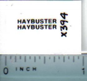 Decal 1/64 Haybuster