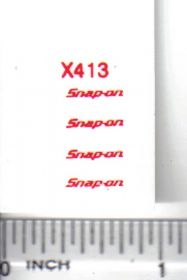 Decal 1/16 Snapon - Red