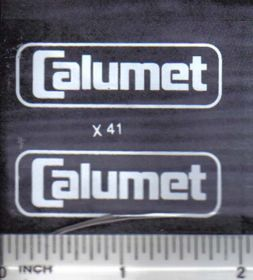 Decal 1/16 Calumet - White on Clear