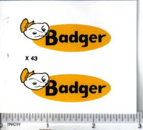 Decal 1/16 Badger