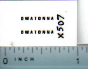 Decal 1/64 Owatonna