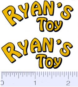 Decal 1/16 Ryan's Toy Decal (Yellow, Black on Clear) (Pair)