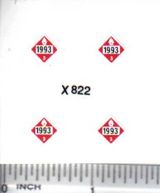 Decal 1/64 Hazard - 1993