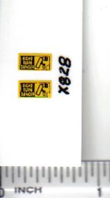 Decal 1/64 Right Turn Danger - Yellow, Black