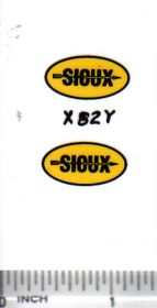 Decal Sioux Grain Bin 7/8in.