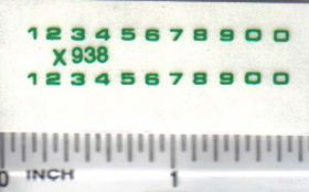 Decal Number Set - Green 1/16in. x 1/16in.
