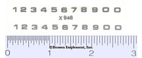 Decal Number Set - Silver 1/8in. x 1/8in.