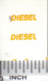 Decal Diesel - Yellow 3/8 inch