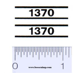 Decal 1/16 Case 1370 Model Numbers (Pair)