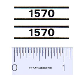 Decal 1/16 Case 1570 Model Numbers (Pair)