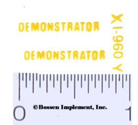 Decal 1/16 Demonstrator (yellow)