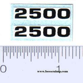 Decal 2500 Model Numbers