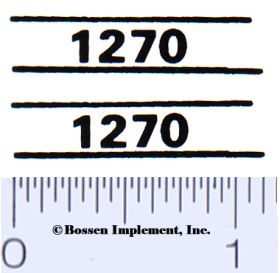 Decal 1/16 Case 1270 Model Numbers