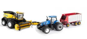 1/64 New Holland T8.380 MFD w/FR-920 & Forage Wagon Set