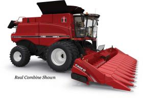 1/64 Case IH Combine 7150 with two Heads Authentic #10