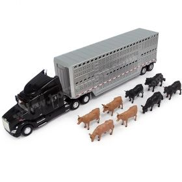 1/32 Peterbilt 579 semi with Cattle Trailer & Cattle