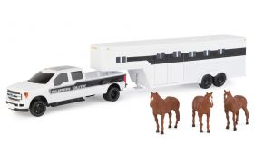 1/32 Ford F-350 Pickup w/Horse Trailer & Horses