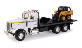 1/16 Big Farm Peterbilt 367 Flatbed with JD Skid Loader