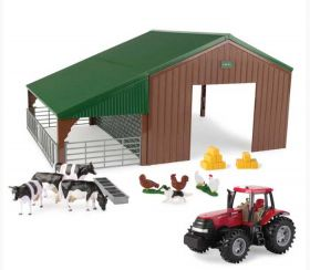 1/32 Machine & Livestock Building Set with Magnum 305 & accessories
