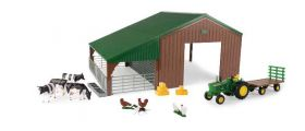 1/32 Machine & Livestock Building Set with 4020 & accessories