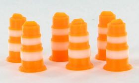 1/64 Traffic Barrels set of 6