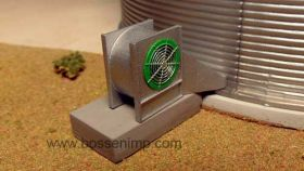 1/64 Grain Bin Centrifugal Fan Kit 3D printed
