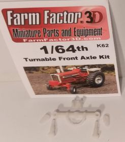 1/64 Wide Front Axle Kit 3D Printed