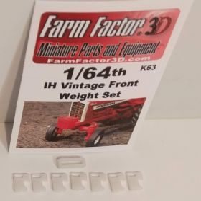 1/64 Weight Bracket & Weights IH Kit 3D printed