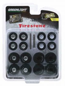 1/64 Kings of Crunch Firestone Wheel & Tire Pack