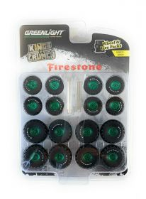 1/64 Kings of Crunch Firestone Wheel & Tire Pack Green Chase