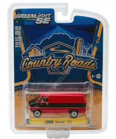 1/64 Chevy Van G-20 1986 black and red