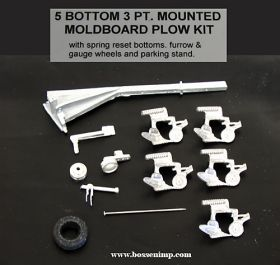 1/64 Plow 5 Bottom 3 Point Mounted Kit