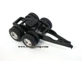 1/64 Dolly Tandem Axle Assembled black