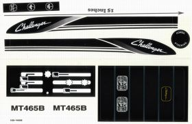 Decal Challenger MT-465B Pedal Tractor