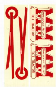 Decal Minneapolis Moline Tot Tractor Pedal Tractor Water Transfer