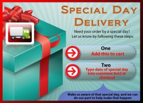 Add 'Special' to your cart to ensure delivery by your Special Date