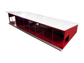 1/64 Cattle Shed Monoslope red & white
